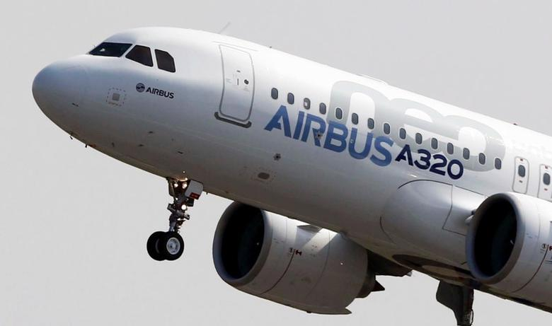 FILE PHOTO: The Airbus A320neo (New Engine Option) takes off during its first flight event in Colomiers near Toulouse, southwestern France, September 25, 2014. REUTERS/Regis Duvignau (FRANCE - Tags: BUSINESS TRANSPORT TPX IMAGES OF THE DAY) - RTR47N27/File Photo