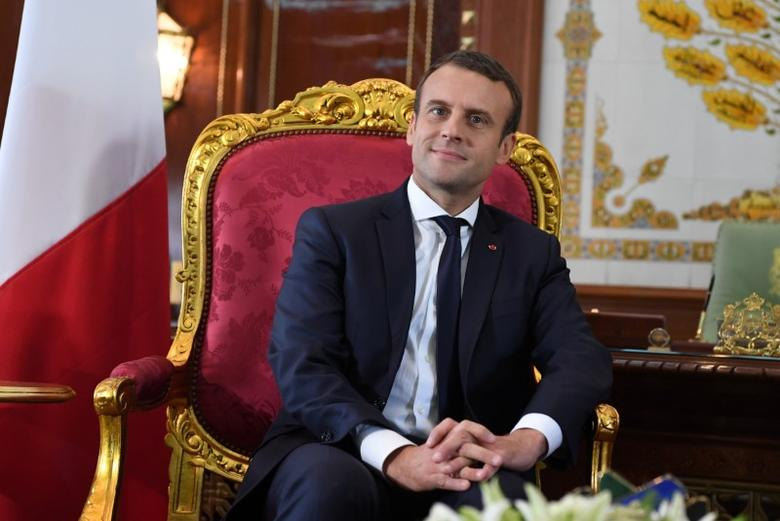 France's President Emmanuel Macron meets with Moroccan King at the Royal Palace in Rabat, Morocco, June 14, 2017. Picture taken June 14, 2017.  REUTERS/Alain Jocard/Pool
