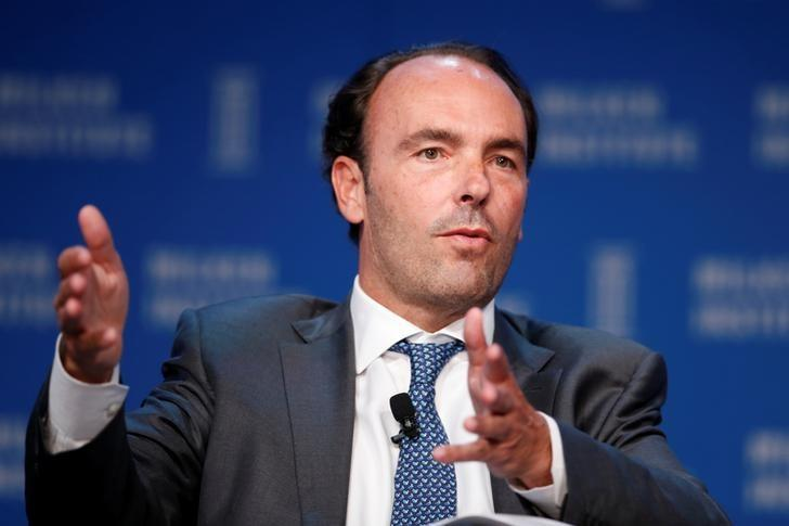 FILE PHOTO: Kyle Bass, Chief Investment Officer of Hayman Capital Management, speaks at the Milken Institute Global Conference in Beverly Hills, California, U.S., May 4, 2016. REUTERS/Lucy Nicholson