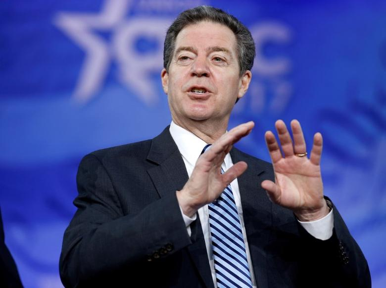 FILE PHOTO: Republican Governor Sam Brownback of Kansas, speaks during the Conservative Political Action Conference (CPAC) in National Harbor, Maryland, U.S., February 23, 2017.      REUTERS/Joshua Roberts