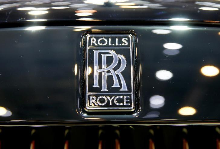 The logo of Rolls-Royce is seen during the 87th International Motor Show at Palexpo in Geneva, Switzerland March 8, 2017. REUTERS/Arnd Wiegmann/Files