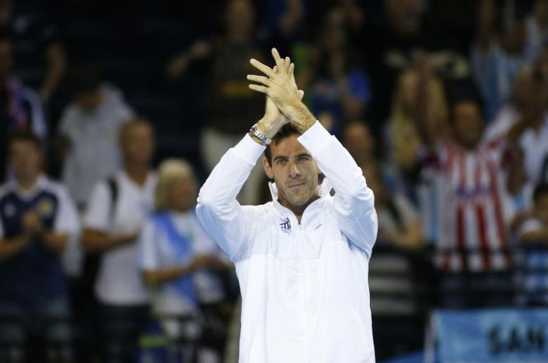 Tennis Britain - Great Britain v Argentina - Davis Cup Semi Final - Emirates Arena, Glasgow, Scotland - 18/9/16Argentina's Juan Martin del Potro applauds the fans after the matchAction Images via Reuters / Andrew BoyersLivepic