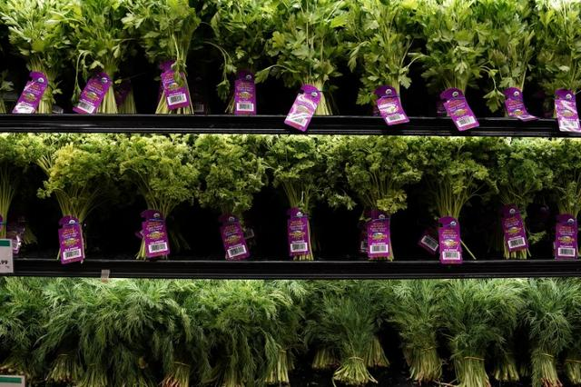 Fresh herbs for sale are pictured inside a Whole Foods Market in the Manhattan borough of New York City, New York, U.S. June 16, 2017.   REUTERS/Carlo Allegri