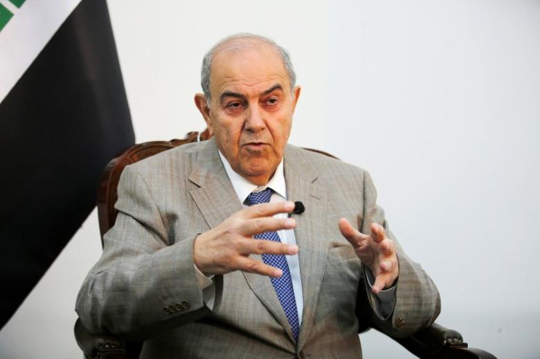 Iraq's Vice President Ayad Allawi speaks during an Interview with Reuters in Baghdad, Iraq April 17, 2017. REUTERS/Khalid al Mousily