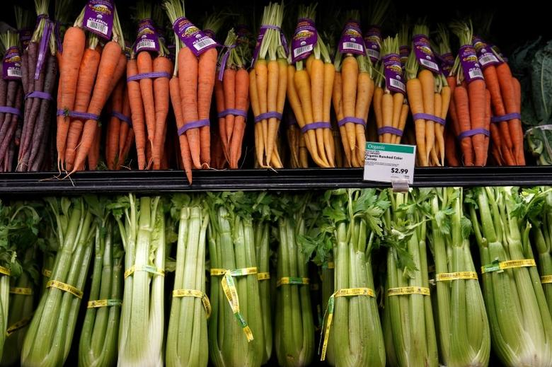 Vegetables for sale are pictured inside a Whole Foods Market in the Manhattan borough of New York City, New York, U.S. June 16, 2017.   REUTERS/Carlo Allegri