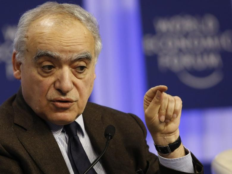 FILE PHOTO: Ghassan Salame, dean of The Paris School of International Affairs, attends a session at the annual meeting of the World Economic Forum (WEF) in Davos January 24, 2014.                     REUTERS/Ruben Sprich