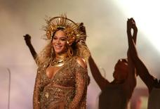 FILE PHOTO - Beyonce performs at the 59th Annual Grammy Awards in Los Angeles, California, U.S. on February 12, 2017. REUTERS/Lucy Nicholson/File Photo