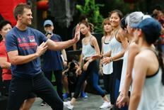 New England Patriots NFL quarterback Tom Brady takes part in a promotional training event in Beijing, China June 18, 2017. REUTERS/Thomas Peter