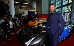 """Cast member Armie Hammer poses at the premiere of """"Cars 3"""" at the convention center in Anaheim, California U.S., June 10, 2017.   REUTERS/Mario Anzuoni"""