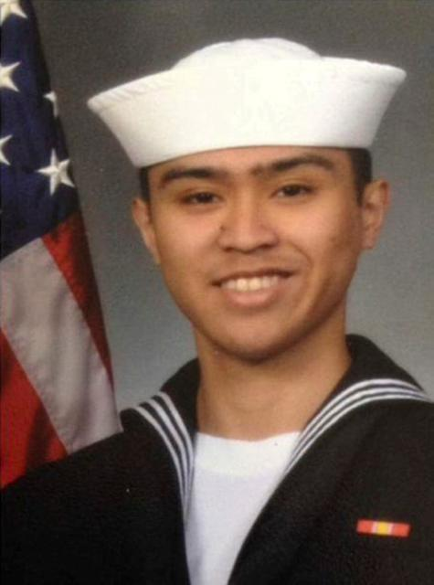 Fire Controlman 2nd Class Carlos Victor Ganzon Sibayan, 23, from Chula Vista, California, one of the dead sailors identified by the U.S. Navy from a collision between the U.S. Navy destroyer USS Fitzgerald and Philippine-flagged merchant vessel, is seen in this undated handout photo released by the U.S. Navy on June 19, 2017. Courtesy of U.S. Navy/Handout via REUTERS