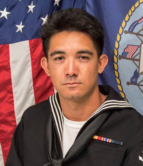 Yeoman 3rd Class Shingo Alexander Douglass, 25, from San Diego, California, one of the dead sailors identified by the U.S. Navy from a collision between the U.S. Navy destroyer USS Fitzgerald and Philippine-flagged merchant vessel, is seen in this undated handout photo released by the U.S. Navy on June 19, 2017. Courtesy of U.S. Navy/Handout via REUTERS