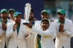 Pakistan celebrate winning the ICC Champions Trophy  Action Images via Reuters / Paul Childs Livepic