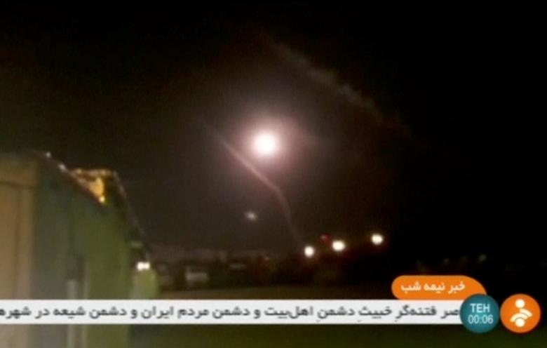 A still image taken from a footage shot on June 18, 2017 and broadcasted on Iranian Television IRINN, purports to show missiles being fired from Iran into eastern Syria. IRINN/ via Reuters TV ATTENTION EDITORS - THIS IMAGE HAS BEEN SUPPLIED BY A THIRD PARTY. REUTERS IS UNABLE TO INDEPENDENTLY VERIFY THE CONTENT OF THIS VIDEO. NO ACCESS IRAN. NO ACCESS BBC PERSIAN, NO ACCESS MANOTO, NO ACCESS VOA PERSIAN DIGITAL, NO ACCESS VOA PERSIAN. NO RESALES. NO ARCHIVES  IRAN OUT. NO COMMERCIAL OR EDITORIAL SALES IN IRAN.     TPX IMAGES OF THE DAY