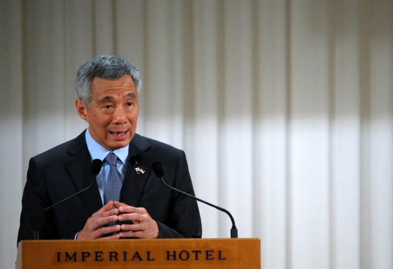 Singapore's Prime Minister Lee Hsien Loong speaks at the International Conference on The Future of Asia in Tokyo, Japan, September 29, 2016. REUTERS/Kim Kyung-Hoon