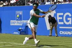 Aegon Championships - Queen's Club, London - June 19, 2017 France's Jo-Wilfried Tsonga in action during his first round match against France's Adrian Mannarino Action Images via Reuters / Tony O'Brien Livepic