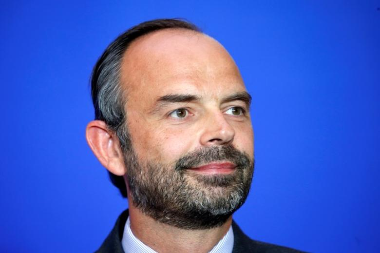 French Prime Minister Edouard Philippe attends a news conference to unveil the government's labour reforms, in Paris, France, June 6, 2017.  REUTERS/Charles Platiau