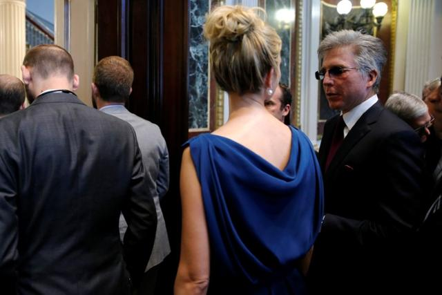 SAP CEO Bill McDermott (R) speaks with Ivanka Trump as tech company leaders gather at a summit of the American Technology Council at the Eisenhower Executive Office Building in Washington, U.S. June 19, 2017.  REUTERS/Jonathan Ernst