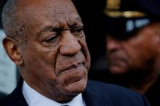 FILE PHOTO - Actor and comedian Bill Cosby departs after a judge declared a mistrial in his sexual assault trial at the Montgomery County Courthouse in Norristown, Pennsylvania, U.S. on June 17, 2017. REUTERS/Lucas Jackson/File Photo
