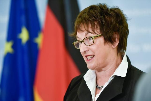 6月19日、ドイツのツィプリース経済相(写真)はロス米商務長官に書簡を送り、米政権が鉄鋼輸入に対する是正策を取る可能性を示唆していることに反論した。ベルリンで16日撮影(2017年 ロイター/Stefanie Loos)