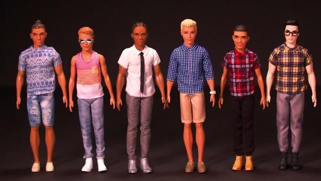 6月20日、着せ替え人形「バービー」の長年のボーイフレンド「ケン」に15種類のタイプが新たに加わることが発表された。発売元の米玩具メーカーのマテルによると、肌の色が7種類、髪型はお団子(マンバン)や編み上げ(コーンロウ)など9種類、体型は「がっちり」など3種類。写真はマテル提供のロイタービデオの映像から(2017年 ロイター)