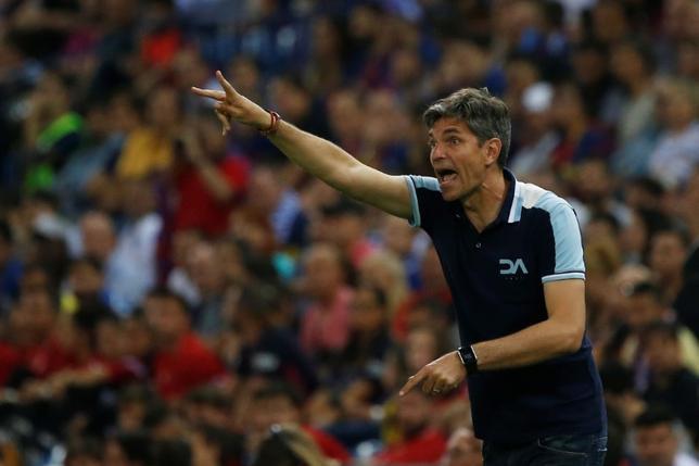 6月23日、サッカーのイングランド・プレミアリーグ、吉田麻也が所属するサウサンプトンは、マウリシオ・ペジェグリノ氏(写真)を新監督に任命した。マドリードで5月撮影(2017年 ロイター/Susana Vera)