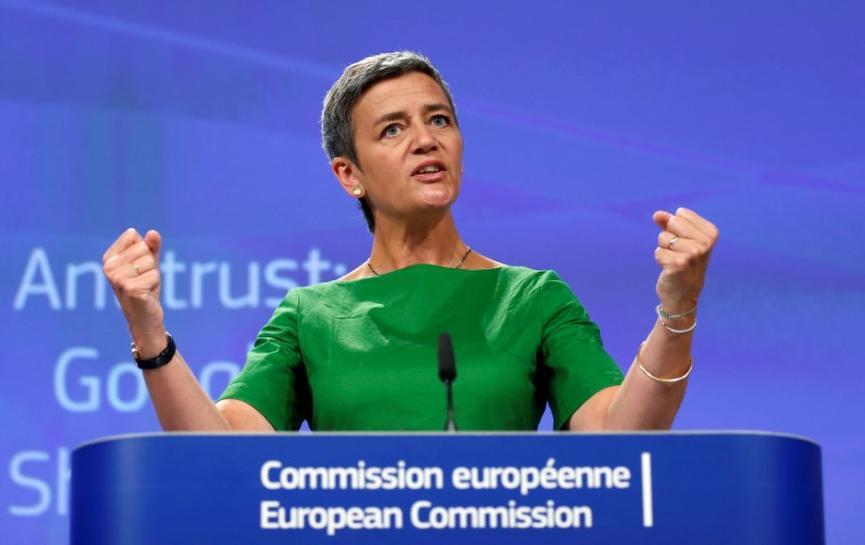 EU antitrust regulators hit Google with record 2.42 billion euro fine