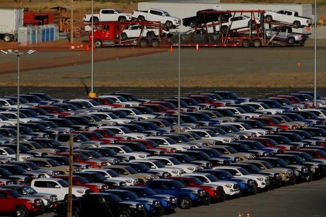 6月28日、GM、フォード、FCAの米自動車大手3社がつくる業界団体、米自動車貿易政策評議会は、北米自由貿易協定(NAFTA)の原産地規則の厳格化が、米国、メキシコ、カナダの自動車工場の競争力を大幅に低下させる可能性があるとの見方を示した。メキシコのティフアナで4月撮影(2017年 ロイター/Jorge Duenes)