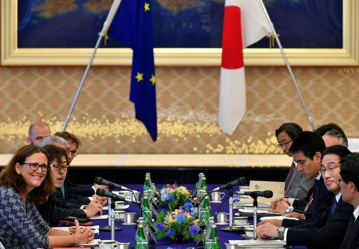 Eu Japan Officials Seal Trade Agreement Eu Official Says Reuters