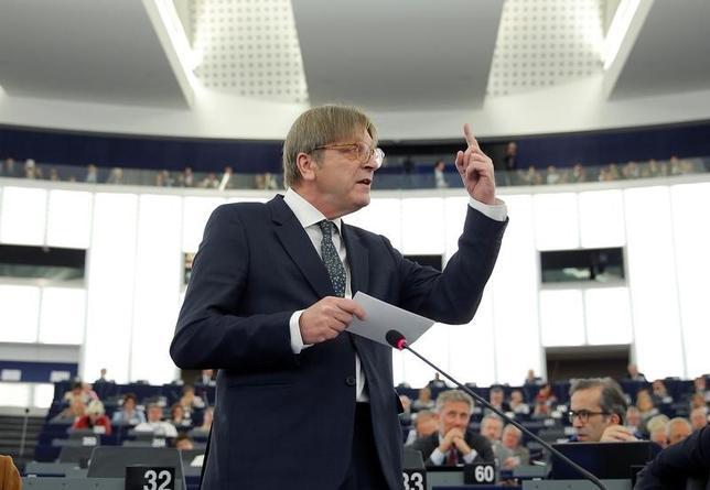 7月10日、英国のEU離脱を巡る欧州議会の交渉担当者を務めるヒー・フェルホフスタット氏(写真)は、英国に住むEU市民の権利保障に関する英国側の提案は多くのEU市民に「曖昧さと不透明感の暗雲」をもたらすとの見解を示した。4月撮影(2017年 ロイター/Vincent Kessler)