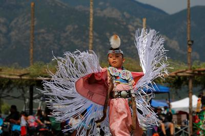 Pow wow gathering in New Mexico
