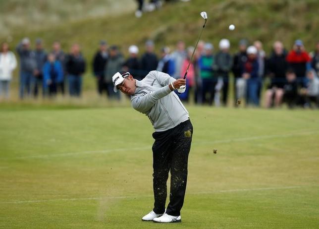 7月11日、ゴルフの元全英オープン王者のジョニー・ミラー氏は、世界ランク2位の松山英樹(写真)について「現時点ではベストプレーヤー」と評価した。9日撮影(2017年 ロイター/Paul Childs)