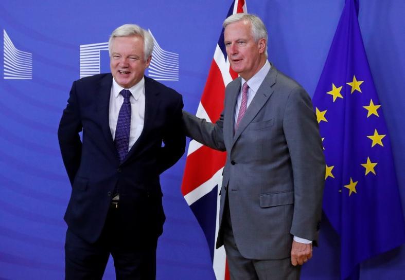 da82a46fce8 BRUSSELS (Reuters) - The British and EU Brexit negotiators met on Monday