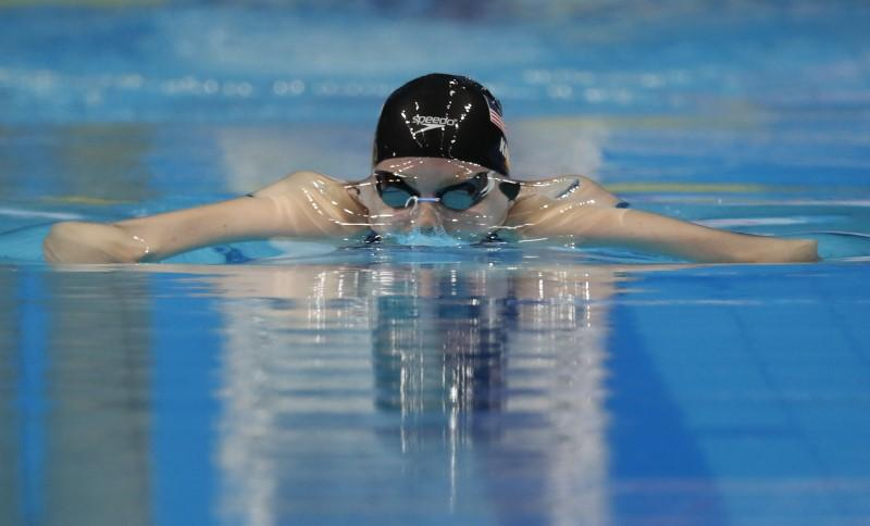 swimming 17th fina world aquatics championships womens 100m breaststroke semifinals budapest hungary july 24 2017 lilly king of us competes