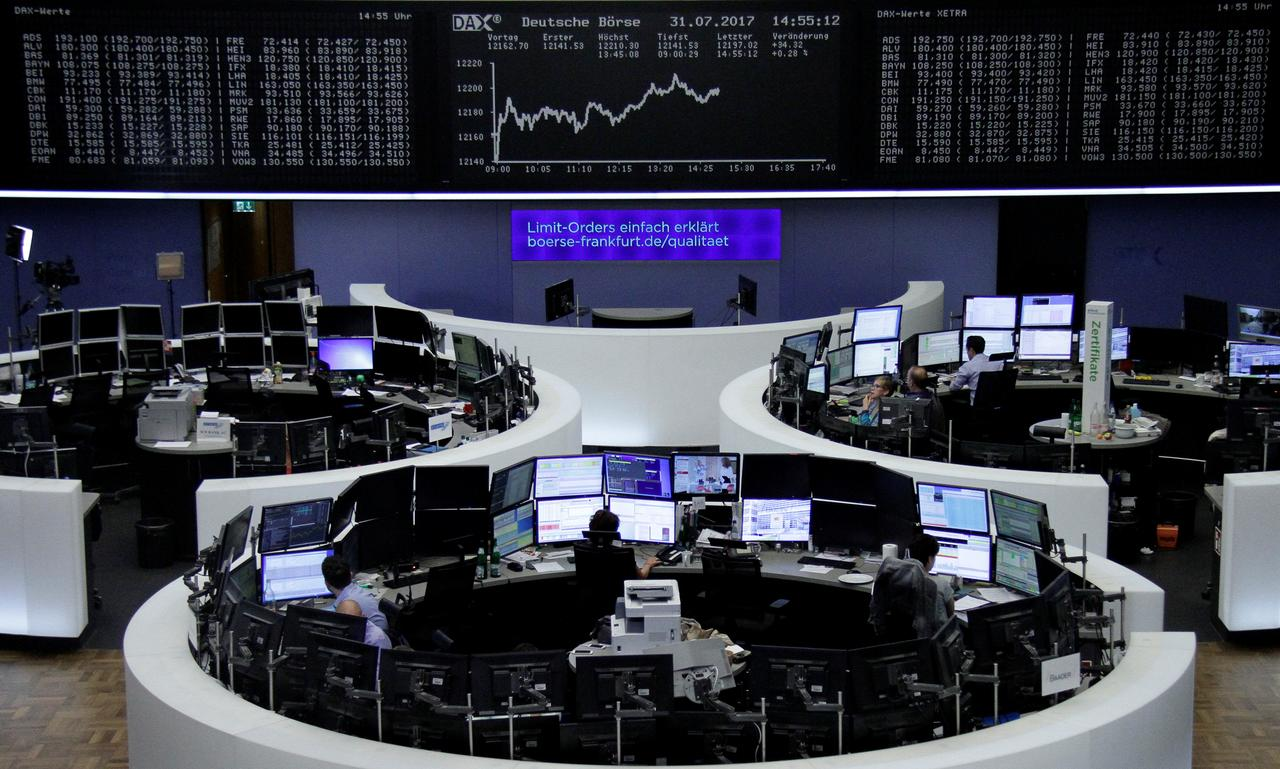 Image result for World stocks slip as tech shares crumble after Dow breaks 22,000