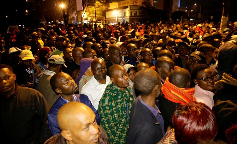 Image result for Kenyans queue for hours to vote amid fears of post-election violence