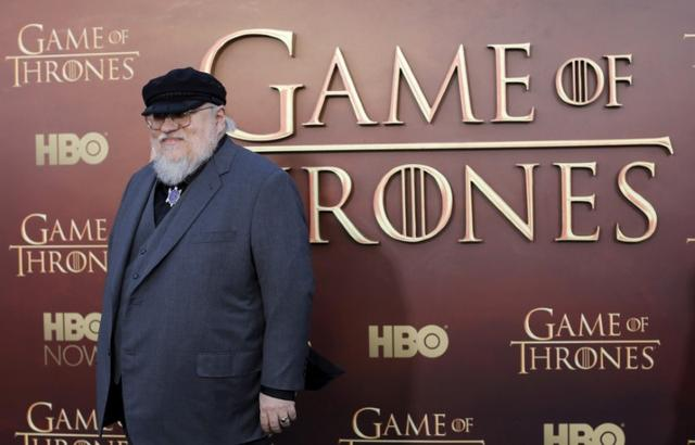 FILE PHOTO - Co-executive producer George R.R. Martin arrives for the season premiere of HBO's ''Game of Thrones'' in San Francisco, California, U.S. on March 23, 2015. REUTERS/Robert Galbraith/File Photo