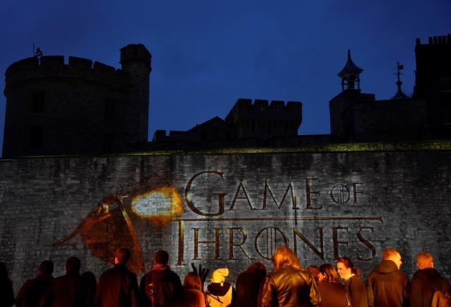 FILE PHOTO - Fans wait for guests to arrive at the world premiere of the television fantasy drama ''Game of Thrones'' series 5, at The Tower of London, England on March 18, 2015. REUTERS/Toby Melville/File Photo