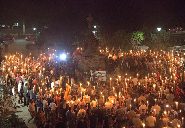 Image result for Protesters clash in Virginia city on eve of white nationalist rally