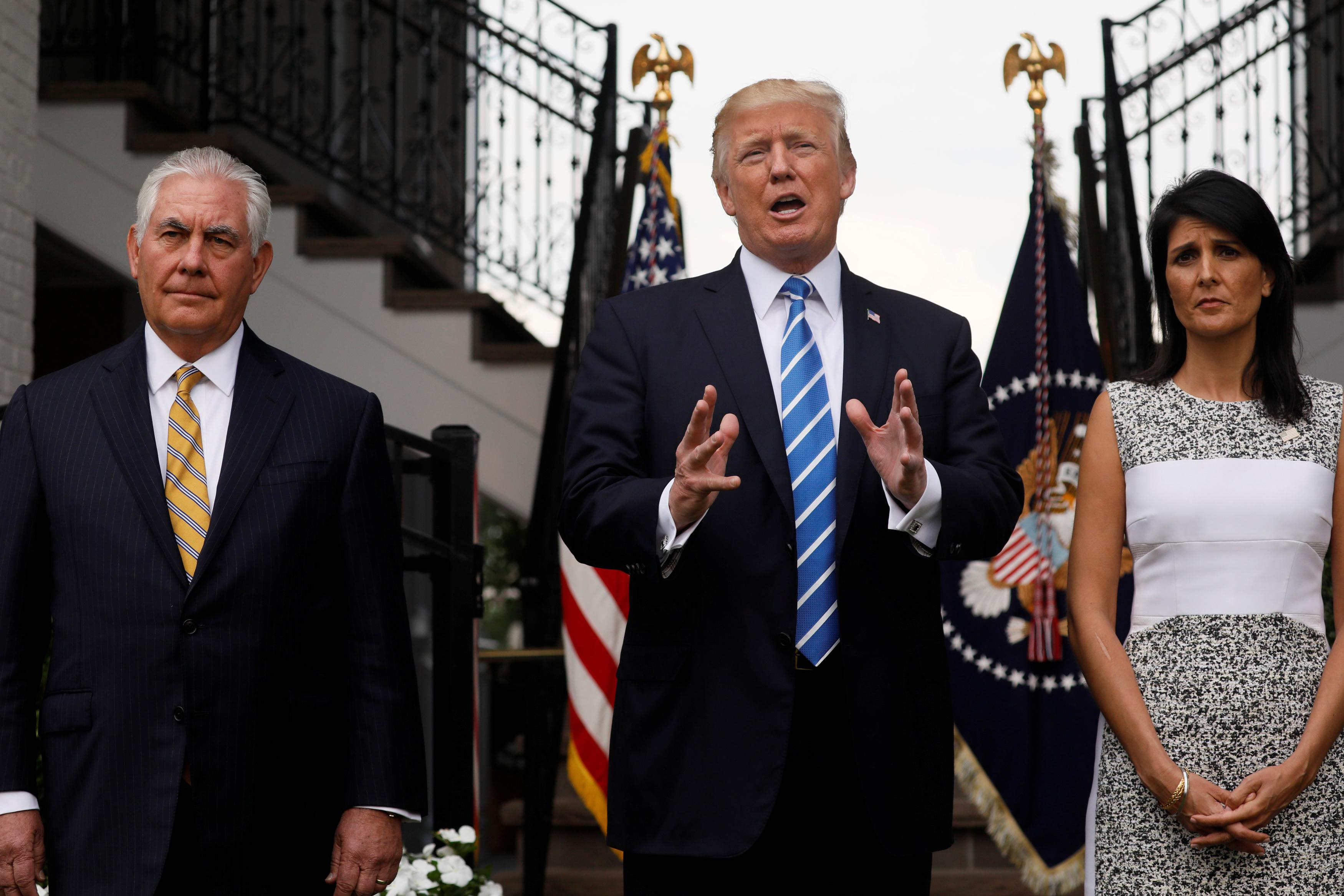 Amid Trump backlash, his U.N. envoy says stand up, isolate hate