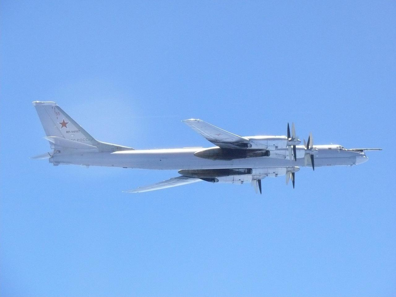 A Russian TU 95 Bomber Flies Over Around Southern Part Of Japan In This Handout Picture Taken By Air Self Defence Force And Released The Joint