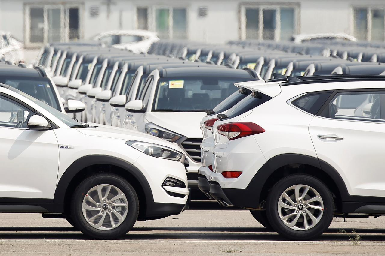 Hyundai motor company united states - Cars Made By Hyundai Motor Co Are Parked In The Compound Of The South Korean Automaker S Plant In Beijing China August 30 2017 Picture Taken August 30