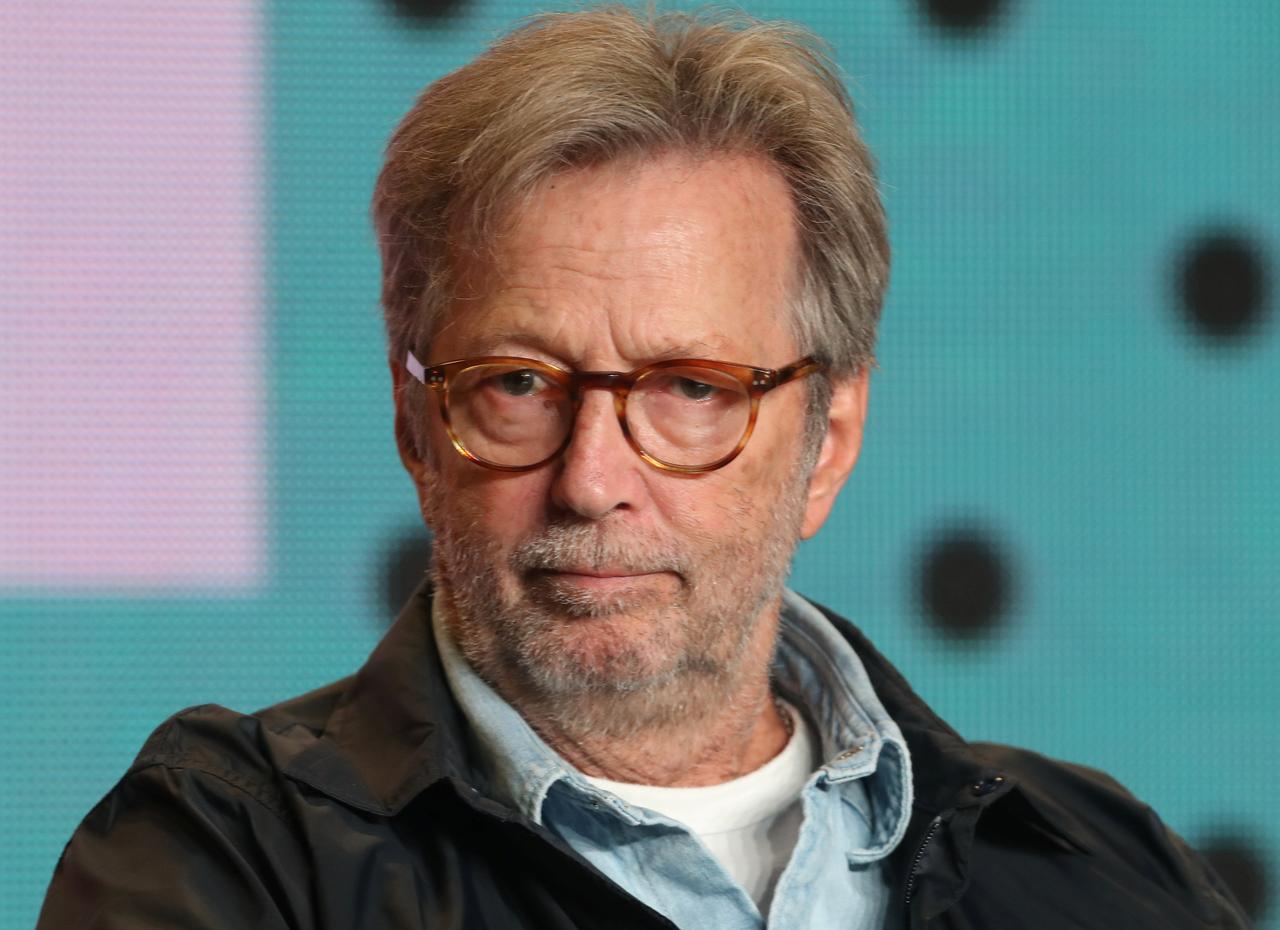 Resultado de imagen de Eric Clapton attends a press conference for Eric Clapton: Life in 12 Bars