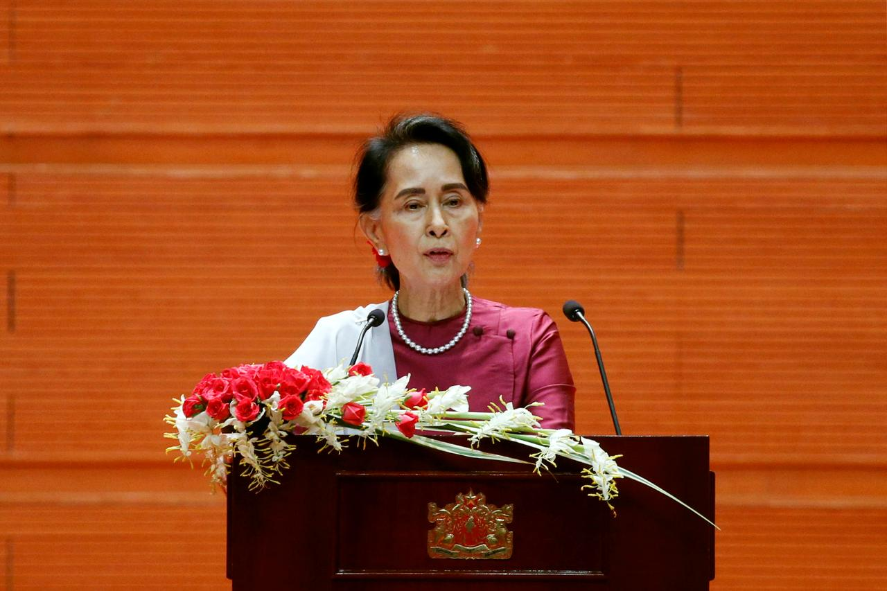 Image result for Suu Kyi condemns tights abuse, decries suffering in Rakhine