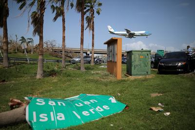 Trump visits battered Puerto Rico