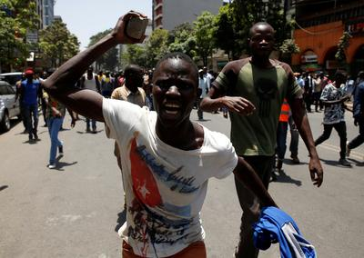 Protests over Kenya's canceled election