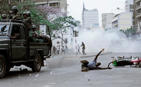 Protests over Kenya's canceled election