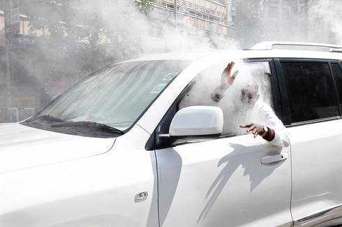 Tear gas hits Kenyan politician's car
