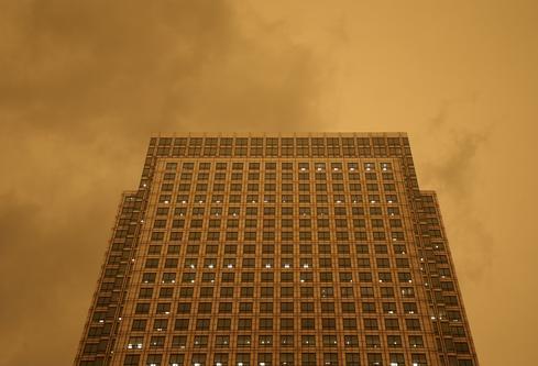 Ophelia turns London sky red