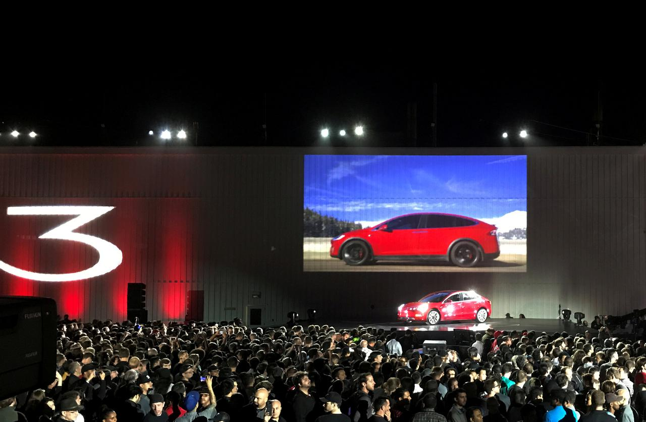 File Photo Tesla Introduces One Of The First Model 3 Cars Off Fremont Factory S Production Line During An Event At Company Facilities In