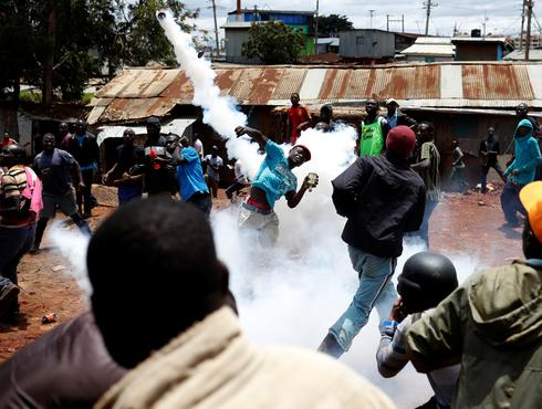 Clashes in Kenya's election re-run